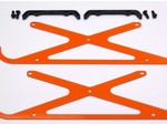 ALIGN T-REX 450 HIGH VISIBILITY ORANGE G-10 LANDING GEAR SET