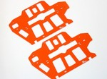 BLADE 550X 600X HIGH VISIBILITY ORANGE G-10 FRAME SET (2.0mm)
