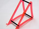 XTREME LARGE RED ACRYLIC CHARGER STAND