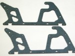ALIGN T-REX 450 LOWER BLUE CARBON FIBER FRAME SET (2 PIECES)
